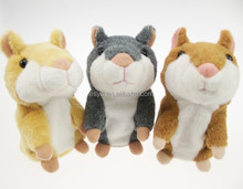 talking hamster /Speaking repeat hamster/hot sell plush toy for kids