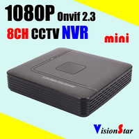 8 chanel 1080p nvr min 2.0mp nvr support p2p cloud service video recorder nvr, high quality