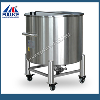 FLK hgh quality stainless steel diesel skid tank with rollers