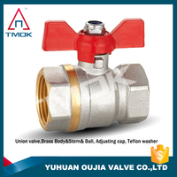 ball valve for refrigeration high quality long alum handle with plating three way manual power with lock in TMOK