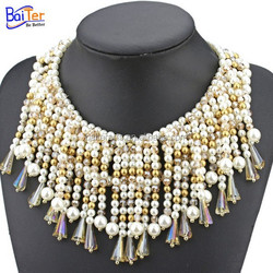 Wholesale pearl necklace jewelry women fashion artificial pearl necklace