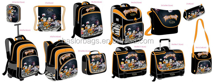 Sac à dos funky sac d'école avec personnage de dessin animé