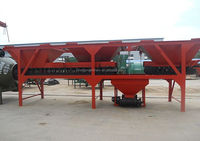 Dry concrete batching plant with two/three/four hopper in low price