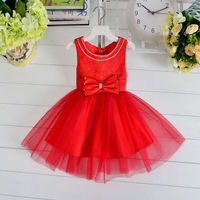 Baby Frock Designs 2016 Party Dresses Infant Princesses Baby Girl Red Dresses