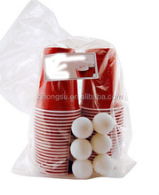 Red Solo Cup Beer Pong Cup with Ping Pong Ball and Card and Plastic Bag