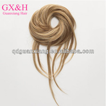 factory price beautiful silk strip tails straight and curly end wrap around pony for fashion women virgin hair tail hair piece