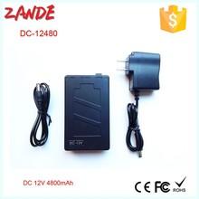 2015 hot selling DC 12480 Portable Recharge 4800mah 12V li-ion battery for CCTV, Camera, LED strip