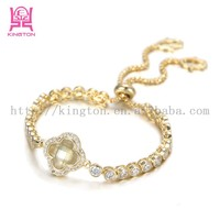 fashion costume jewelry china gold plated lucky stone bracelet