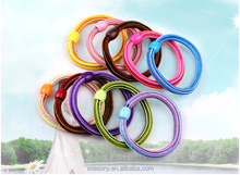 2015 factory shipping multicolor elastic hair band,hair tie with bead