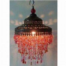 Traditional design plastic crystal chandelier
