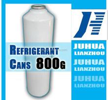 800g small can packing R134a refrigerant R134a car refrigerant tetrafluoroethane juhua produced
