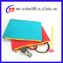 office and school suppliers silicone fancy pencil bag 2015