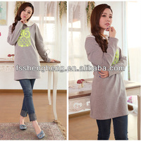 Owl office fashion maternity dresses winter professional working dress breastfeed baby for hot mommies AK103