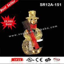 LED wire Snowman christmas party decoration