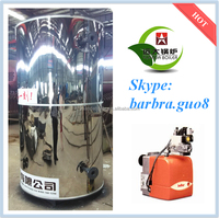 bunker c oil fuel fired vertical structure & fire tube steam boiler price