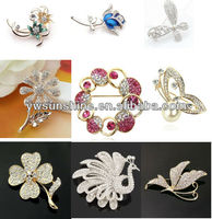 2014 wholesale jewelry flower brooch /pin /clip