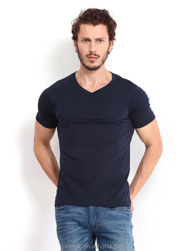 V neck plain white cotton t shirts cheap china bulk for White t shirts in bulk