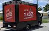 sunrise led roller light box advertising car,lifting screen led display truck,new led TV truck