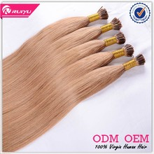 China Supplier Newest top Grade remy 1g stick tip hair extensions