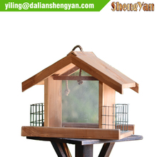 China New Design Wooden Hanging Bird Feeder/Bird House/Bird Cage With Cheap Price