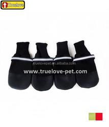 Waterproof anti-slip pu dog boots