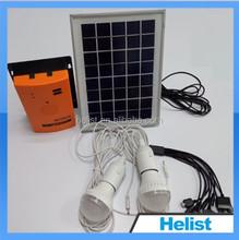 Good price rechargeable 5w solar lighting kit