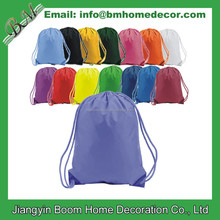 210 Denier Nylon Promotional Blank Sports Cinch Bag / Drawstring Backpack / Drawstring Bag