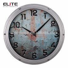 electronic wall clock in antique industrial style