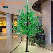 2592นำเอช: 3mสีเขียวไฟledเมเปิ้ลต้นไม้แสงสำหรับการตกแต่ง