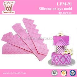 Orginal design! Fondant silicone mold border fondant silicon mold