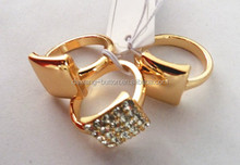 cheap earrings made in china Women Charms piercing large white crystal ring type earrings