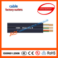 copper solid wire pvc insulated electrical flat cable for conveyors