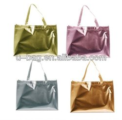 non woven metallic lamination bag,carry bag ,promotional bag