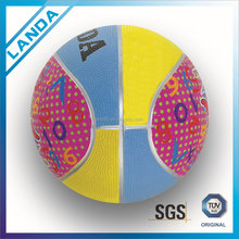 Promotional standard size outdoor indoor rubber basketball
