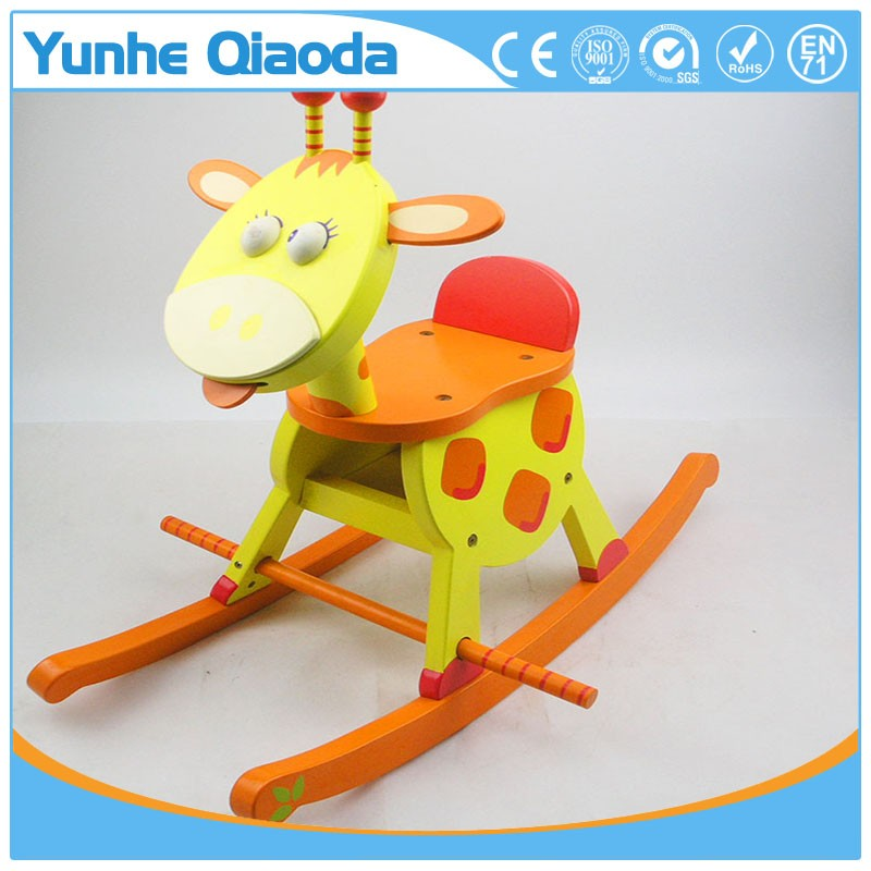 enfant en bois bascule girafe rocker acheter girafe en bois bascule en bois cheval. Black Bedroom Furniture Sets. Home Design Ideas