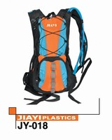 Solar hydration backpack with bladder and bite valve