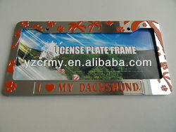 Custom license plate frames wholesales