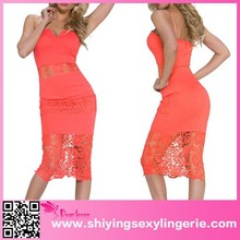 Venta al por mayor nuevo diseño encaje con muesca antideslizantes para obtener auténticas fotografías de faldas largas