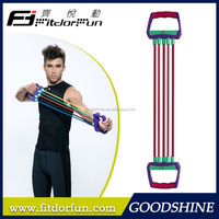 Factory Direct Sale Fitness Equipment Interchangeable Resistance Elastic Tube Chest Expander