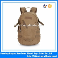 China high quality custom new durable large capacity outdoor military woodland camouflage canvas backpack hunting bag