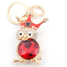 2015 latest design gifts&crafts high quality custom keychains red owl keyring