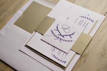 Letterpress Wedding invitations Brand New