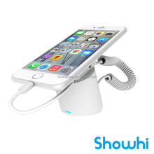 Showhi new release popular mobile phone display security stand for cell phone with charge alarm function HSE7300