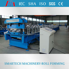 YGA344 Chinasmartech making galvanized steel deck floor roll forming machine