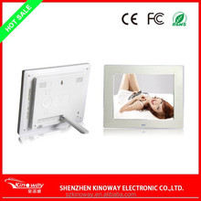 CE, FCC,ROHS certificates Black,White, pink 8'' TFT LCD 800*600 Calendar, alarm , auto power off function Electronic Photo Frame