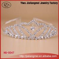 Fashion mini rhinestone headband custom beauty pageant crowns tiaras with comb