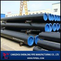 6m 12m long Grade B MS seamless black steel pipe