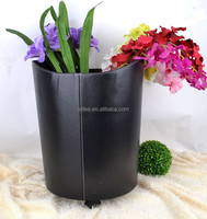 Home Travel Handle Basket Stackable Laundry big PU leather Storage buckets with wheels