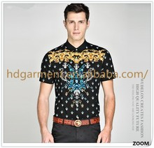 High Quality Men Fashion Shirt Latest Design Mens Short Sleeve Casual Shirt