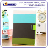 Mix color PU leather Stand case for iPad Air Auto Wake/Sleep Function